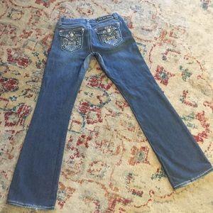 Size 7 boot cut L A Idol USA jeans